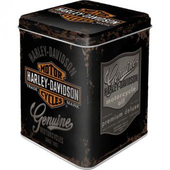 Säilytyspurkki - Tea Box Harley-Davidson - Genuine Logo