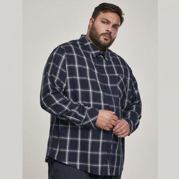 FLANELLI KAULUSPAITA SUURET KOOT  - Basic Check Shirt - URBAN CLASSICS