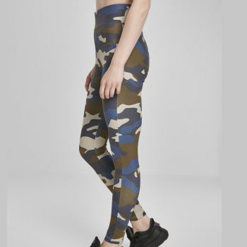 LEGGINSIT - High Waist Camo Tech summerolive camo - URBAN CLASSICS