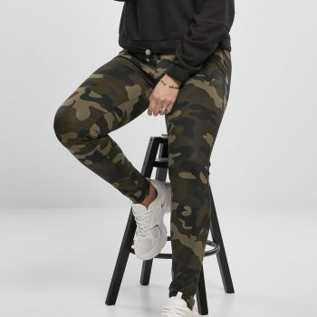 LEGGINSIT SUURET KOOT - High Waist Camo Tech WOOD CAMO - URBAN CLASSICS