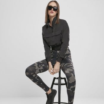 LEGGINSIT - High Waist Camo Tech dark camo - URBAN CLASSICS
