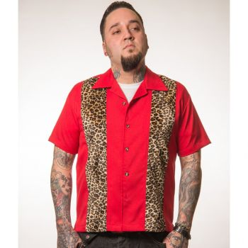 KAULUSPAITA - LEOPARD RED - STEADY CLOTHING