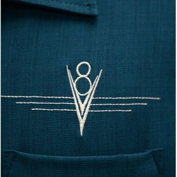 KAULUSPAITA - V8 Classic Shirt in Teal/Stone - STEADY CLOTHING