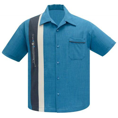 KAULUSPAITA - The Arthur in Pacific/Charcoal/Stone - STEADY CLOTHING