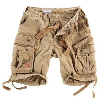 SHORTSIT - Airborne Vintage Shorts BEIGE - SURPLUS