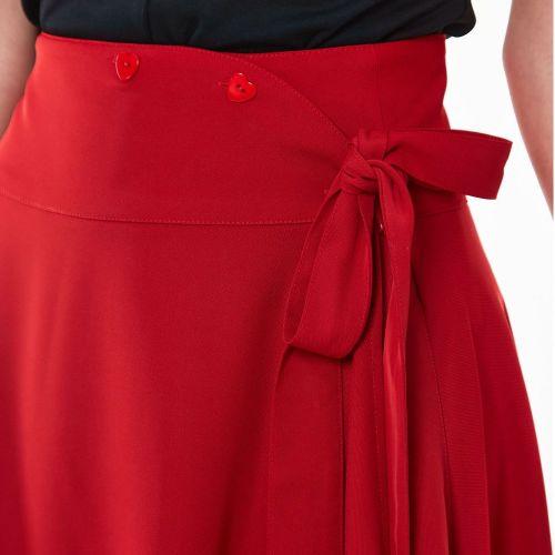 KELLOHAME - Raphaela Heart button bow flare skirt