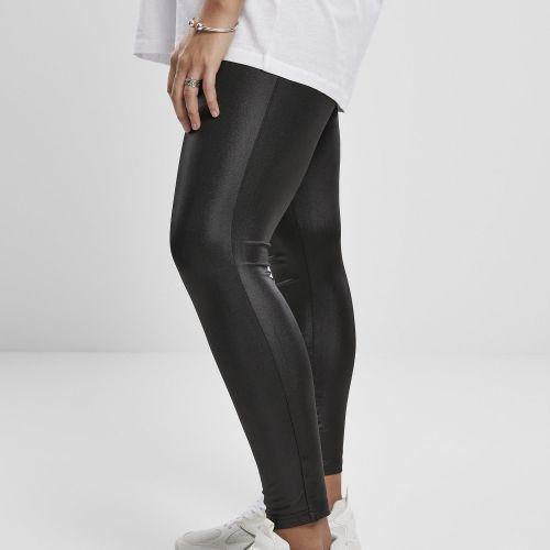 LEGGINSIT SUURET KOOT - Ladies Imitation Leather - URBAN CLASSICS
