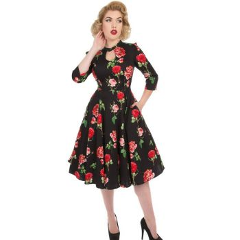 KELLOMEKKO - Black Red Roses Dress