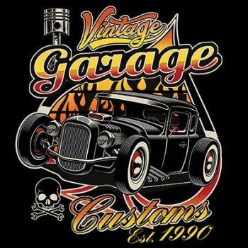 CLASSIC HUPPARI MUSTA - VINTAGE GARAGE CUSTOMS (389)