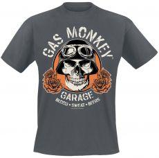 Gas Monkey Garage - Skull T-paita - Harmaa (GMG012)