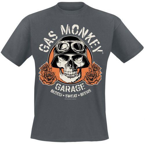 Gas Monkey Garage - Skull T-paita - Harmaa (GMG011)