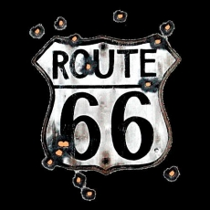 ROUTE 66 SIGN W/BULLET HOLE (416)