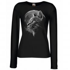 NAISTEN PITKÄHIHAINEN PAITA musta - CAT MOON