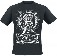 Gas Monkey Garage - Explosion T-paita - Musta (GMG011)