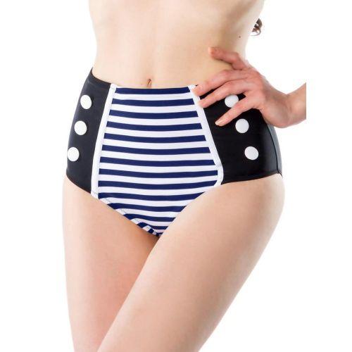 BIKINIT - ALAOSA Vintage Bikini Brief sininen/musta (30)