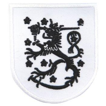KANGASMERKKI - LEIJONA VAAKUNA valkoinen (50663)