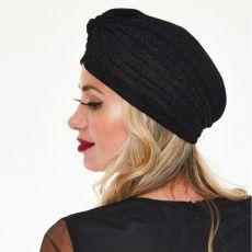 TURBAANI - Leila Black Sparkle Turban