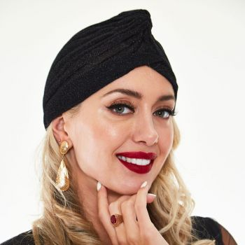TURBAANI - Leila Black Sparkle Turban