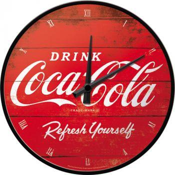 Seinäkello Coca-Cola logo