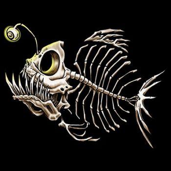 PITKÄHIHAINEN T-PAITA musta - ANGLER FISH (539) - PINETA