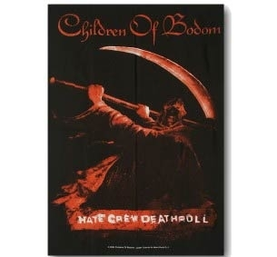 SEINÄLIPPU - CHILDREN OF BODOM - HATE CREW DEATHROLL (LF5462)
