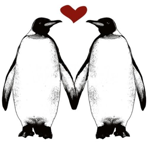 PENGUINS HOLDING FINS HEART (561A)