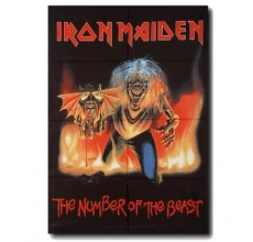 SEINÄLIPPU - IRON MAIDEN - THE NUMBER OF THE BEAST (5745)
