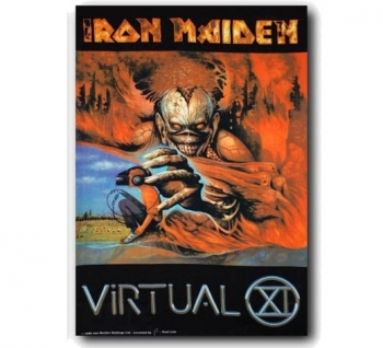 SEINÄLIPPU - IRON MAIDEN - VIRTUAL XI (5822)
