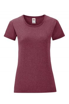 NAISTEN ICONIC T Heather Burgundy