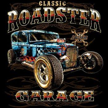 CLASSIC HUPPARI MUSTA - HOT ROD ROADSTER GARAGE (617A)