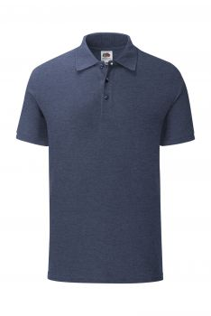 ICONIC PIKEE Heather Navy