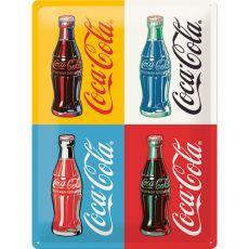 Kilpi 30x40 Coca-Cola Pop Art Neljä pulloa