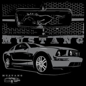 T-PAITA MUSTA - MUSTANG WITH GRILL (748)