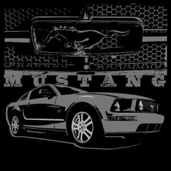 CLASSIC HUPPARI MUSTA - MUSTANG WITH GRILL (748)