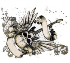 SKULL, GUITAR & WINGS (757)
