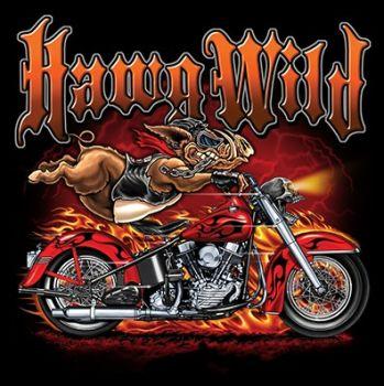 CLASSIC HUPPARI MUSTA - HAWG WILD BIKE (784)