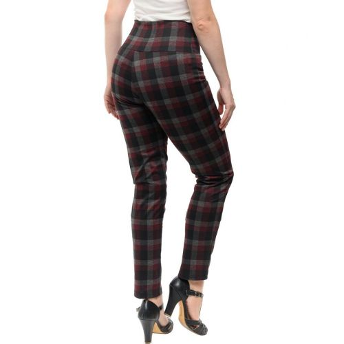 Back in Plaid Audrey Leggings in Burgundy - STEADY CLOTHING