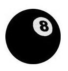 KANGASMERKKI - 8 BALL (50404)