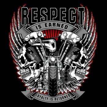 CLASSIC HUPPARI MUSTA - RESPECT IS EARNED (846)
