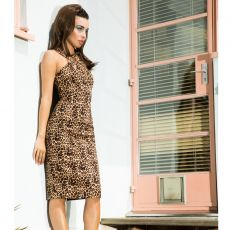 KYNÄMEKKO - Lauren Leopard Pencil Dress