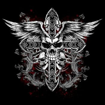 SKULL CROSS WINGS (865)