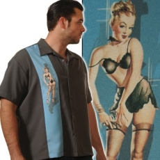 KAULUSPAITA - SINGLE PIN-UP (BLUE) - STEADY CLOTHING (89027)