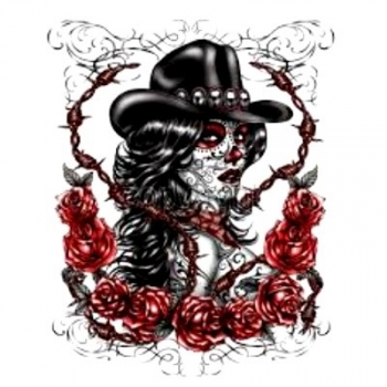 DAY OF THE DEAD COWGIRL (903)