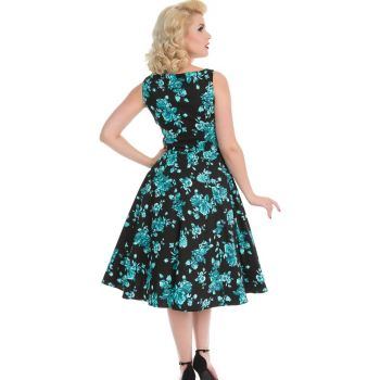 KELLOMEKKO - Black Rosaceae Swing Dress