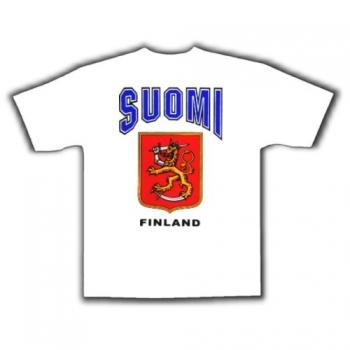 Suomi - T-paita valkoinen