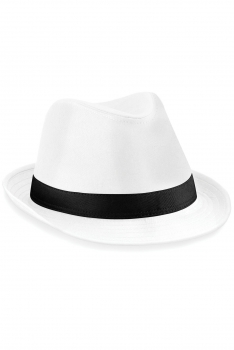 FEDORA-HATTU White - Black