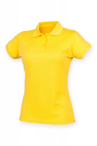 NAISTEN COOLPLUS PIKEE Yellow