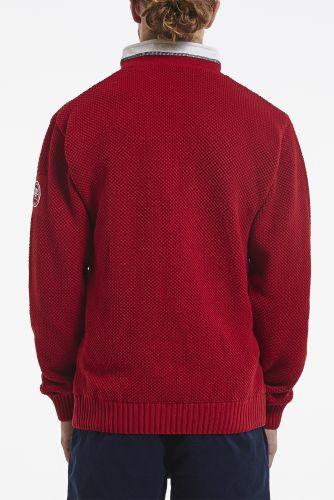 CLASSIC WINDPROOF ZIP NECK NEULE Red