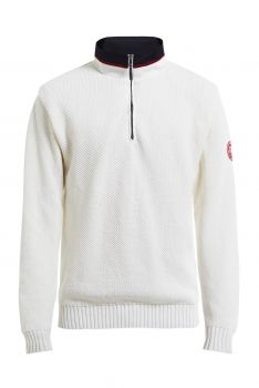 CLASSIC WINDPROOF ZIP NECK NEULE Off White
