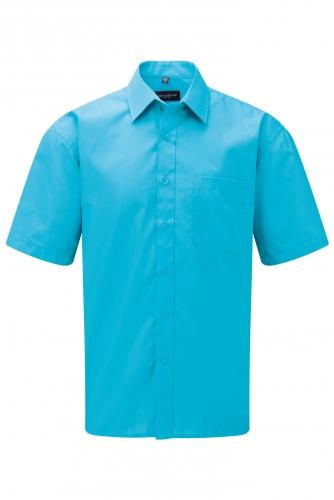 MIESTEN LYHYTHIHAINEN POLYCOTTON POPLIINIPAITA Turquoise
